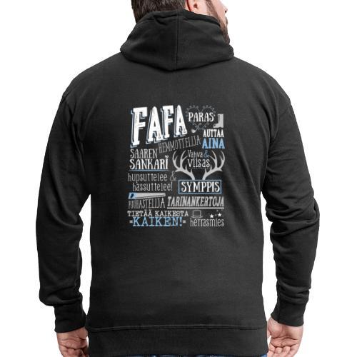 Fafa - Miesten premium vetoketjullinen huppari