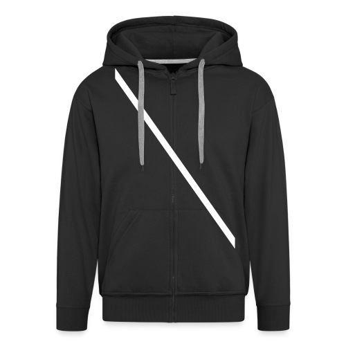 Minimale-Diagonale - Men's Premium Hooded Jacket