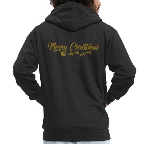 Merry Christmas - Mannenjack Premium met capuchon
