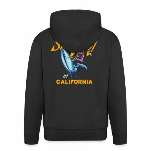 Surfing in California - Männer Premium Kapuzenjacke