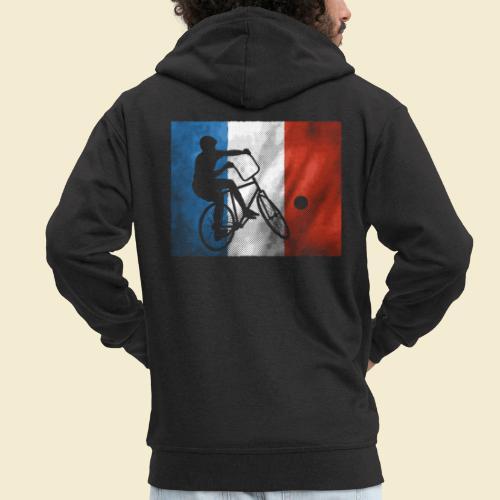 Radball | Flagge Frankreich - Männer Premium Kapuzenjacke
