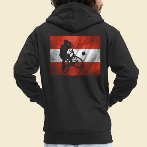 Radball   Flagge Österreich - Männer Premium Kapuzenjacke