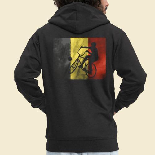 Radball   Flagge Belgien - Männer Premium Kapuzenjacke