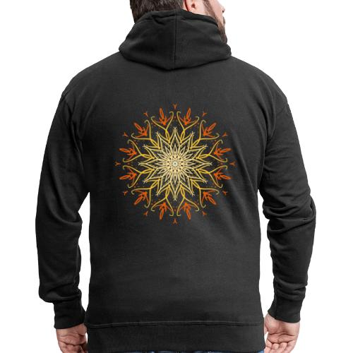 Mandala of fire - Men's Premium Hooded Jacket