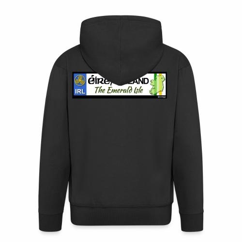 EIRE IRELAND IRL, The Emerald Isle, licence tag EU - Men's Premium Hooded Jacket