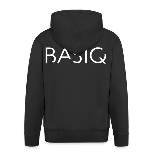 BASIQ white - Männer Premium Kapuzenjacke