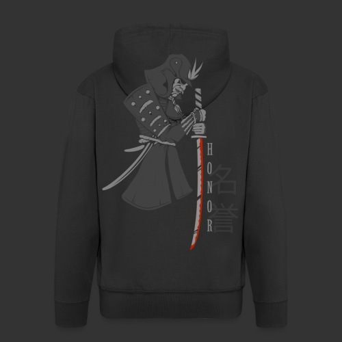 Samurai Digital Print - Men's Premium Hooded Jacket