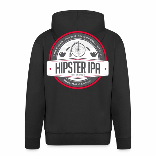 Hipster IPA - Men's Premium Hooded Jacket