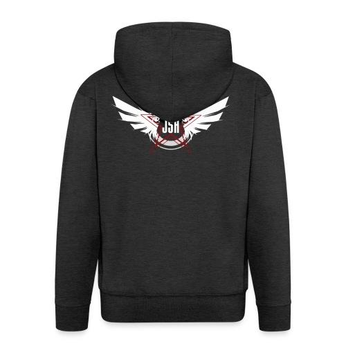 jshlogo10w - Men's Premium Hooded Jacket