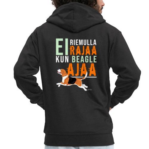 Riemulla Rajaa Beagle - Miesten premium vetoketjullinen huppari