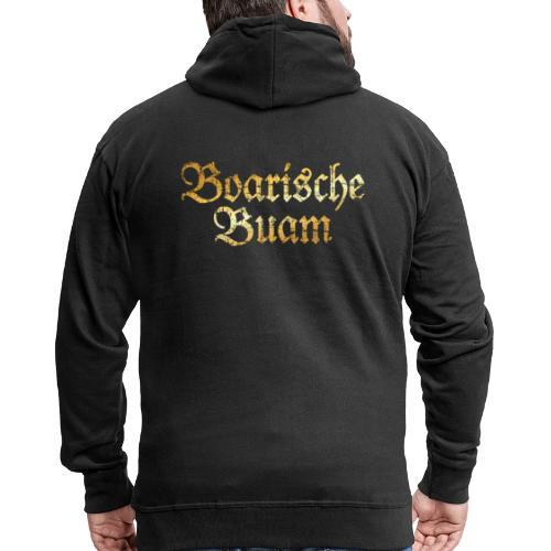Boarische Buam - Bayerische Buben (Vintage/Gelb) - Männer Premium Kapuzenjacke
