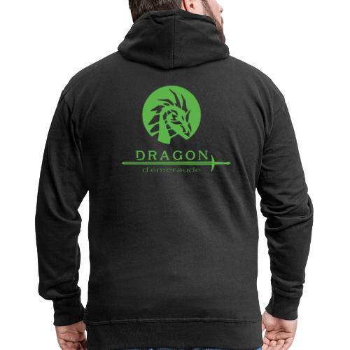 dragon d'émeraude vert - Veste à capuche Premium Homme