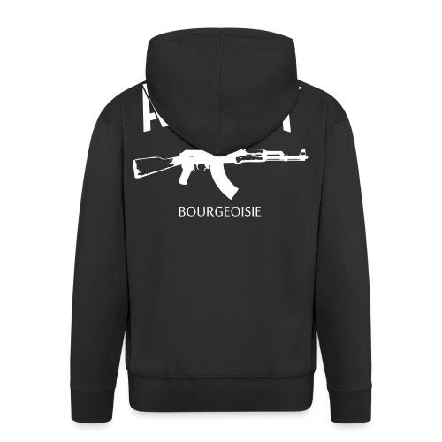 Attack bourgeoisie - Miesten premium vetoketjullinen huppari