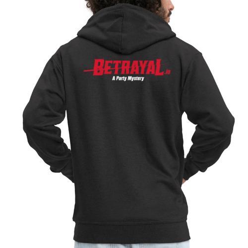 00419 Betrayal logo blanco - Chaqueta con capucha premium hombre
