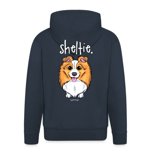 Sheltie Dog Cute 5 - Men's Premium Hooded Jacket
