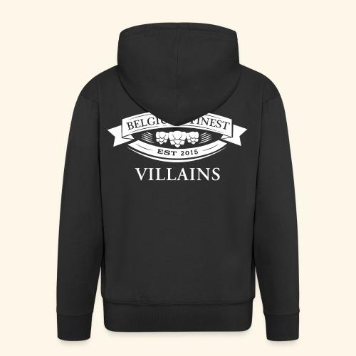 BelgiumFinestEst2015Villains full white - Men's Premium Hooded Jacket