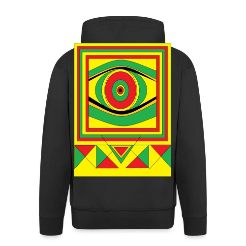 ALL seeing eye RASTA burn down babylon Original - Mannenjack Premium met capuchon