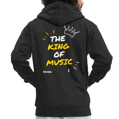 The king Of Music - Chaqueta con capucha premium hombre