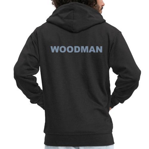 WOODMAN silver - Männer Premium Kapuzenjacke