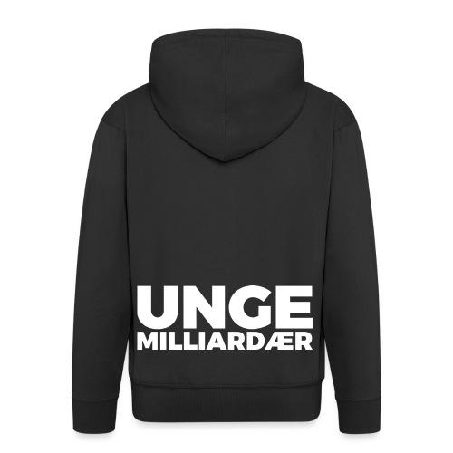 unge-mill-logo-hvit - Premium Hettejakke for menn