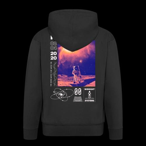 Midnight Astronaut Cosmic Pink - Men's Premium Hooded Jacket
