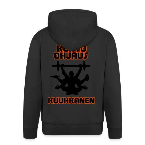 Kunto-ohjaus Kuukkanen Logo - Miesten premium vetoketjullinen huppari