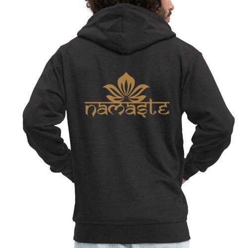 Namaste Lotus Yoga Motiv in Trendfarben MEGA - Männer Premium Kapuzenjacke