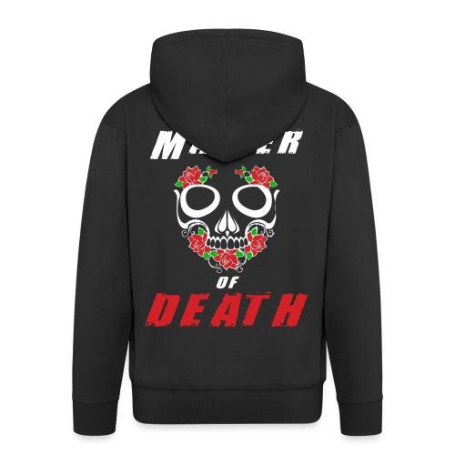 Master of death - white - Rozpinana bluza męska z kapturem Premium