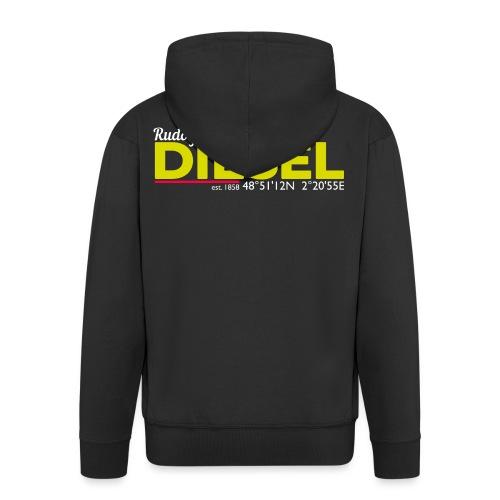 Rudolf Diesel geboren in Paris I Dieselholics - Männer Premium Kapuzenjacke