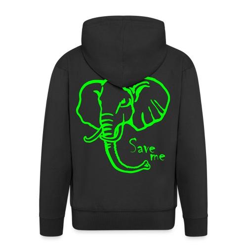 Afrika-Elefant I Save me - Männer Premium Kapuzenjacke