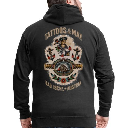Waters Sailor Ship Matrose Tattoos to the Max - Männer Premium Kapuzenjacke