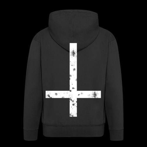 inverted cross white png - Men's Premium Hooded Jacket