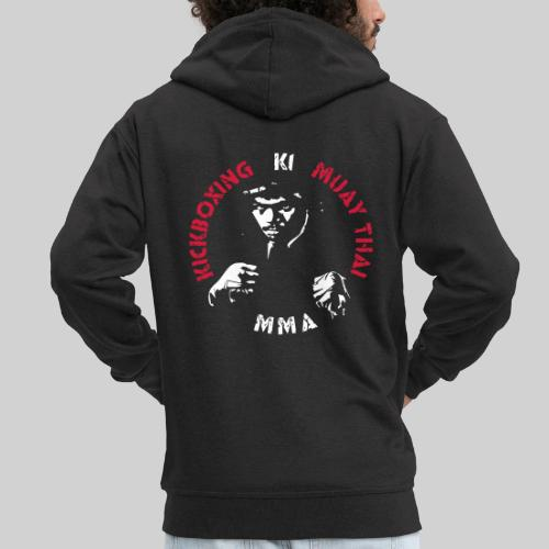 MMA Fighter Face | 2 colors - Men's Premium Hooded Jacket