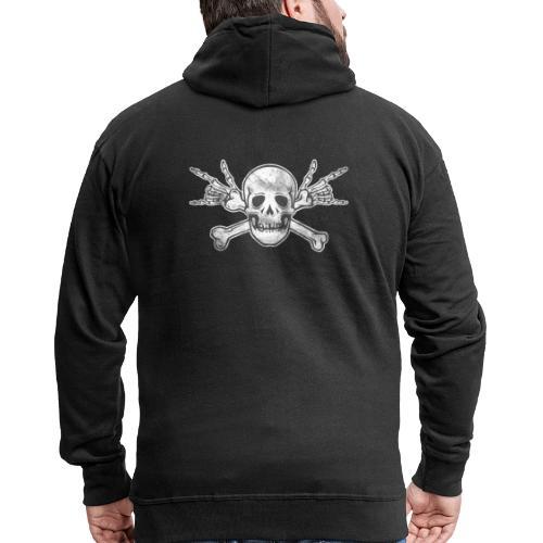 Skull with ILY Vintage - Männer Premium Kapuzenjacke