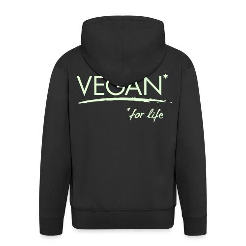 vegan for life 1c - Männer Premium Kapuzenjacke