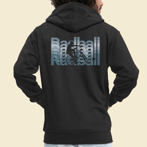 Radball   Typo Art - Männer Premium Kapuzenjacke