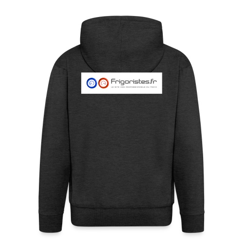 LogoFrigoriste couleur cartouche png - Veste à capuche Premium Homme