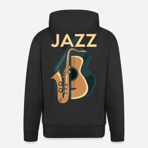 Jazz Gitarre mit Saxophon - Männer Premium Kapuzenjacke