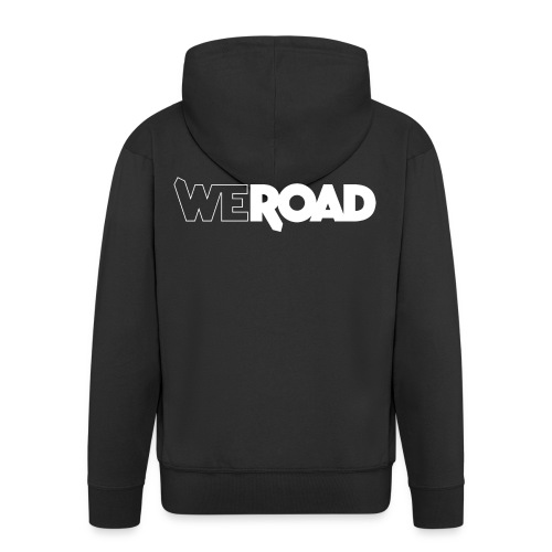 Logo WeRoad Bianco - Felpa con zip Premium da uomo