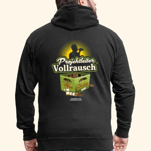 Bier Saufen T Shirt Projektleiter Vollrausch® - Männer Premium Kapuzenjacke