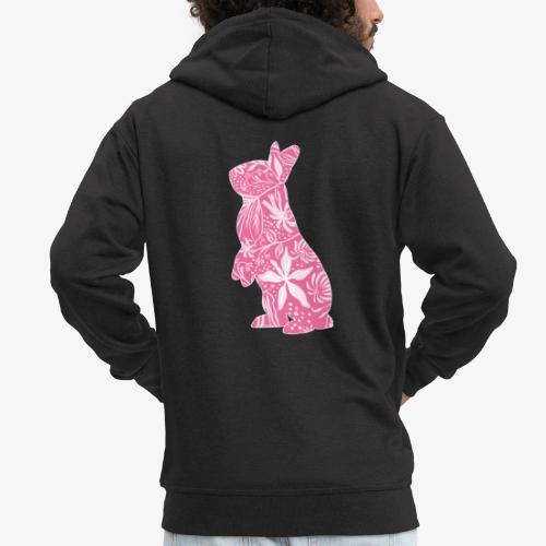 Flower Bunny II - Miesten premium vetoketjullinen huppari