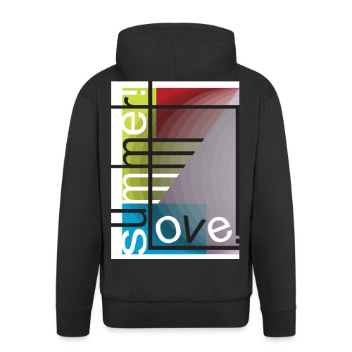 summer love! - Rozpinana bluza męska z kapturem Premium