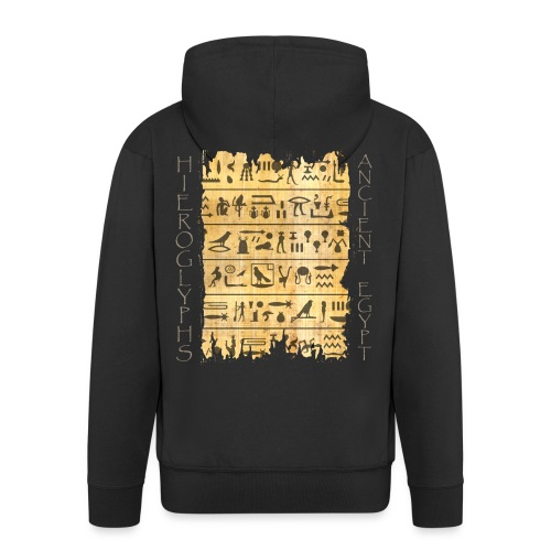 Ausgerissener Papyri mit Hieroglyphen - Männer Premium Kapuzenjacke