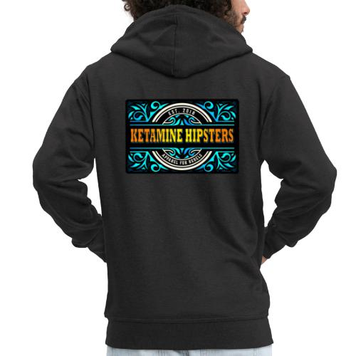 Black Vintage - KETAMINE HIPSTERS Apparel - Men's Premium Hooded Jacket