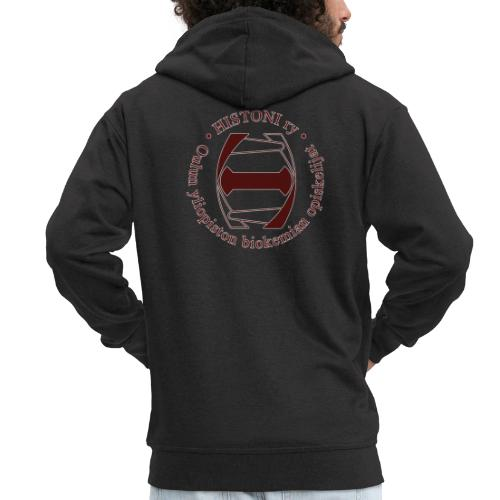 Histoni logo punainen stroke - Miesten premium vetoketjullinen huppari
