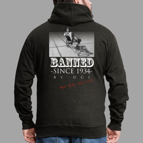 Recumbent Bike Banned since 1934 - Miesten premium vetoketjullinen huppari