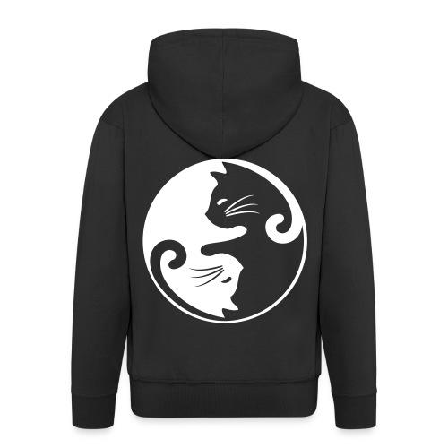 Vorschau: yin yang cat - Männer Premium Kapuzenjacke