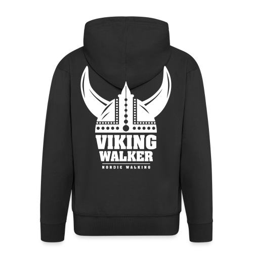 Nordic Walking - Viking Walker - Miesten premium vetoketjullinen huppari