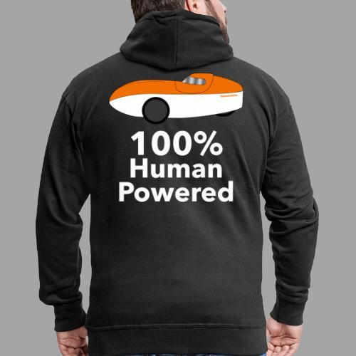 Human Powered WAW - Miesten premium vetoketjullinen huppari