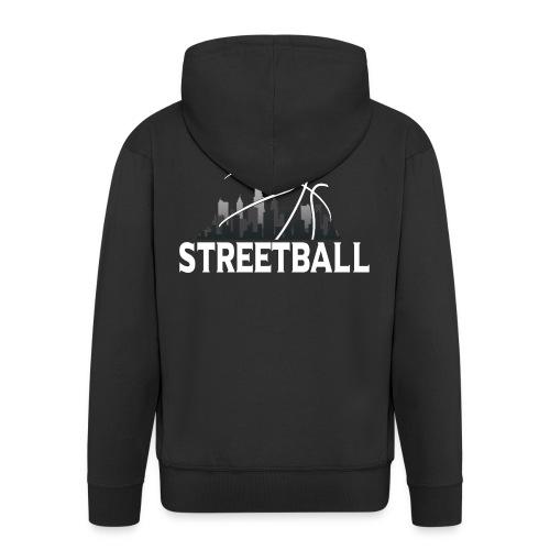 Streetball Skyline - Street basketball - Men's Premium Hooded Jacket